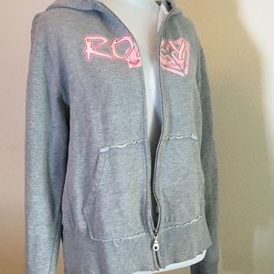 ROXY 🌸 AWESOME Roxy Zip Hoodie Sweatshirt Size L